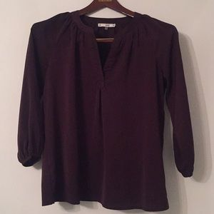 Purple V-neck Blouse